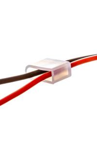 Заглушки и провода для монтажа светодиодного неона 12В 6mm