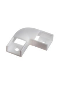 Коннектор угловой для LED профиля ПФ-9 90° пластиковый