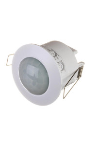 Датчик движения потолочный врезной белый 1200 Вт 360 град.