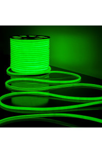 Круглая неоновая лента зеленая AVT 220V smd2835 120LED/м 7Вт/м IP65